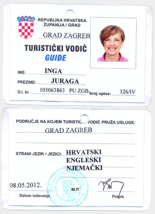 Inga Juraga - Professional City Guide in the Centre of Zagreb